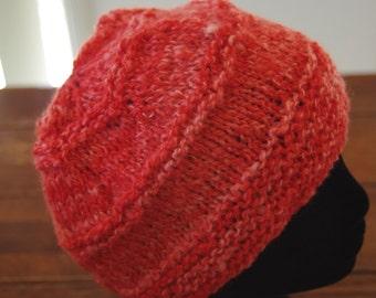 Ladies Knitted Homespun Woollen Beanie-  Handmade- Made In Australia