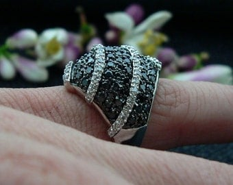 Ladies, 925, sterling,silver, ring ,handset,stone,rhodium ,Plated ,black,white ,color ,cz ,plus, jeweler, gift ,box.,