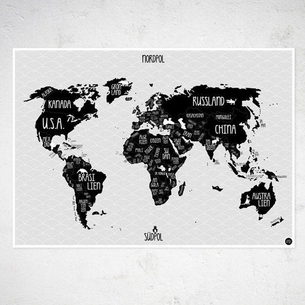World map giant poster a0 a1 a2 a3 a4 sizes ebay a2 poster world map large world map gumiabroncs Image collections