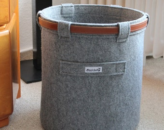 Felt Basket, Wastepaper Basket , Stich-haltig Felt Basket