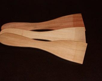 Wooden Flat Spatulas - 3pk - Sycamore