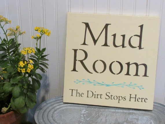 Mud Room Wall Decor : Mudroom sign canvas laundry room entry way decor by