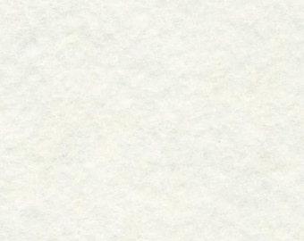 Merino Wool Blend Felt Sheet - White - You pick Size