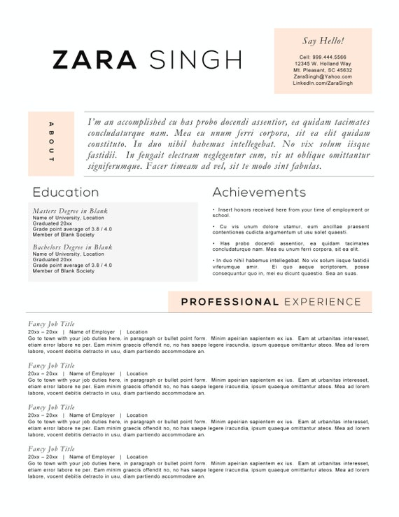 resume templates to highlight your accomplishments - Accomplishment Resume Template