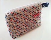 Large Zipped Fabric Make-Up Bag