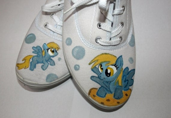 My Little Pony Derpy Hooves hand painted shoes