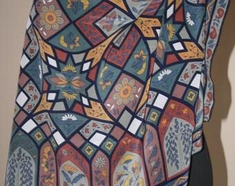 Marja Kurki silk scarf , Vintage , Scadynavian design