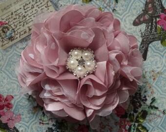"NO SEW Fabric flower tutorial/PDF pattern ""Karenina"" by Fancy Tutorials/Lace Vintage/Hair Flower/Accesories/wedding flower/baby headband"