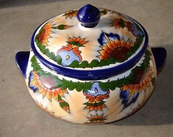 Talavera Ceramic Tureen - Serving Bowl- elegant color