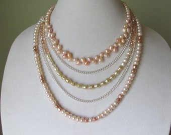 multistrand pearl necklace.