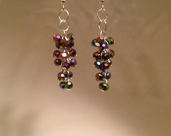 Multicolored Cluster Earrings