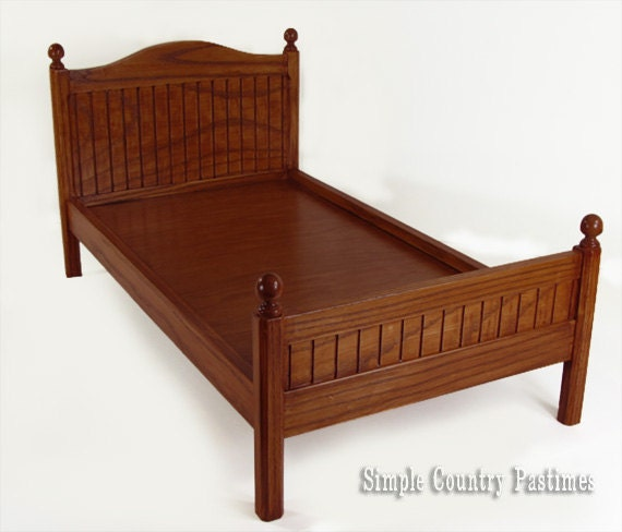 18 Inch Wood Doll Bed For American Girl By Simplecountrygifts