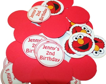 Elmo - Sesame Street  Confetti