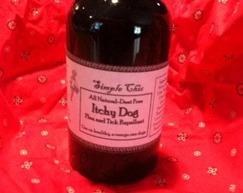Itchy Dog All Natural Flea and Tick Spray on