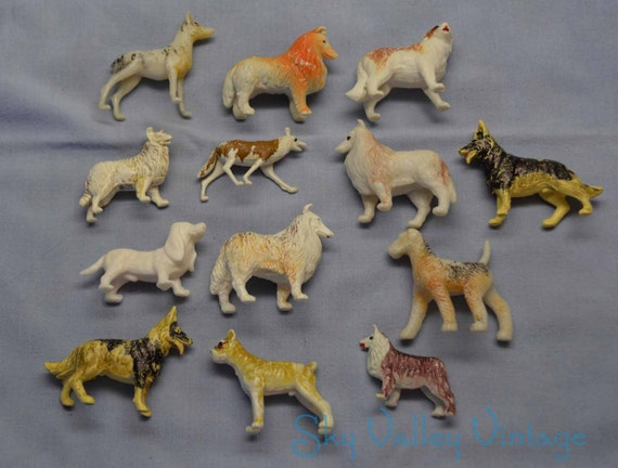 Fake Toy Dogs : Plastic dog toys figurines hong kong s collie
