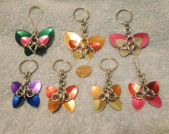 Scale Maille Butterfly Key Chain