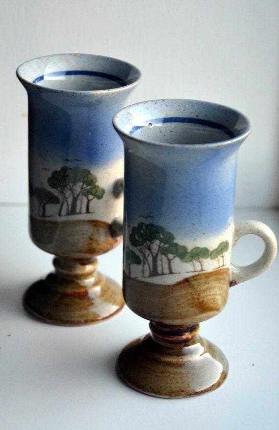 items similar to pair of irish coffee mugs ceramic very