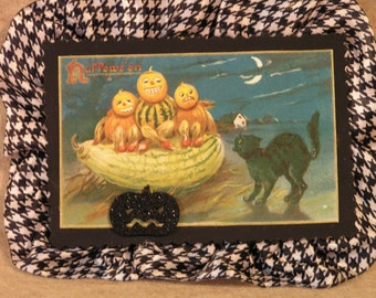 Halloween Hanging Picture Ornament Vintage Image
