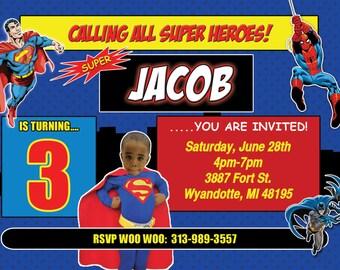 Super Hero Invite/Batman Invite