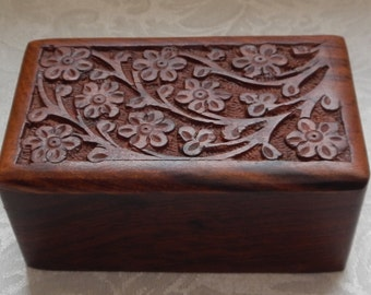 Lovely Handcarved Wooden Box!