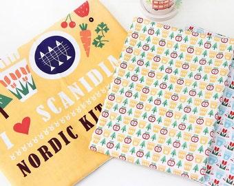 Scandinavian Nordic Style Kitchen Design Panel Cotton Fabric AQ79