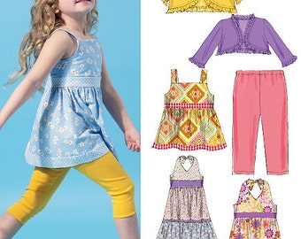 Children's/Girls' Unlined Jackets, Top, Dresses, and Leggings McCall's Pattern M6549