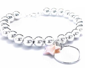 Big balls silver custom bracelet