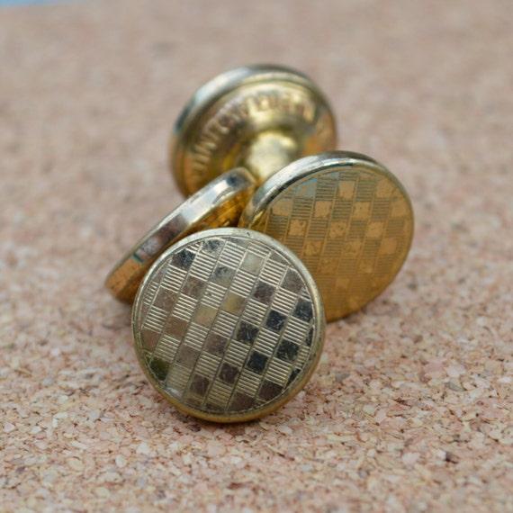 1930s Art Deco Cufflinks Gold Imitation Pat. 449790 Made