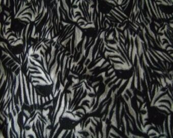 Zebra Faces Fleece Blanket