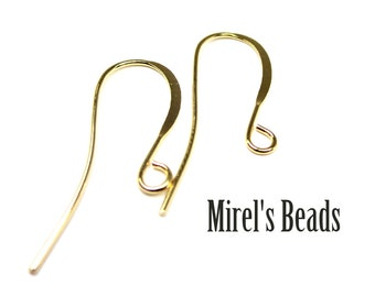 48 pcs Gold Plated Ear Wires, Fish Hook