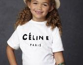 Celine Paris Rihanna breezy Feline Meow Comme children / Kids  T-Shirt Top***