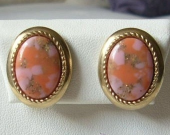 Vintage 1960s signed sarah coventry Coralina earrings