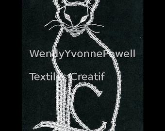 Bobbin Lace Pattern, Supreme Siamese, Wendy Yvonne Powell, Braid Lace, Russian Braid Lace,Tape Lace, Pillow Lace, Dentelles, Kantklossen