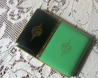 Richard Hudnut Combination Vanity Case Compact and Cigarette Case Original Display Box