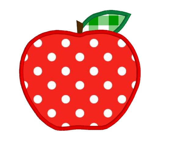Free Apple Applique Embroidery Design