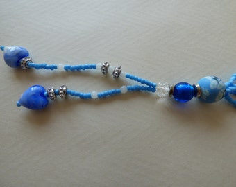 NECKLACE Blue sky and white - Made in FRANCE