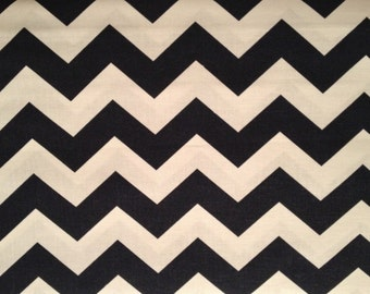 "1"" Chevron Zig Zag Navy and White by the yard"