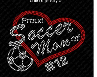 Soccer mom rhinestone transfer DIY hot fix iron on soccer mom bling transfer iron on soccer mom rhinestone iron on transfer soccer mom bling