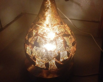 Handcrafted one of a kind Gourd Lamp