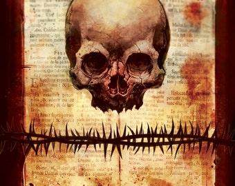 """12""""x12"""" Skull Print"""