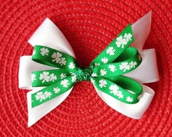 St. Patrick's Day Pinwheel Hair Bow
