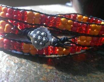 Colorful Triple Wrap Bracelet