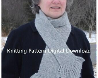 Sea Smoke Scarf Knitting Pattern (digital download)