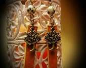 Tree Of Life And Leather Earrings . Island zing, Free Shipping