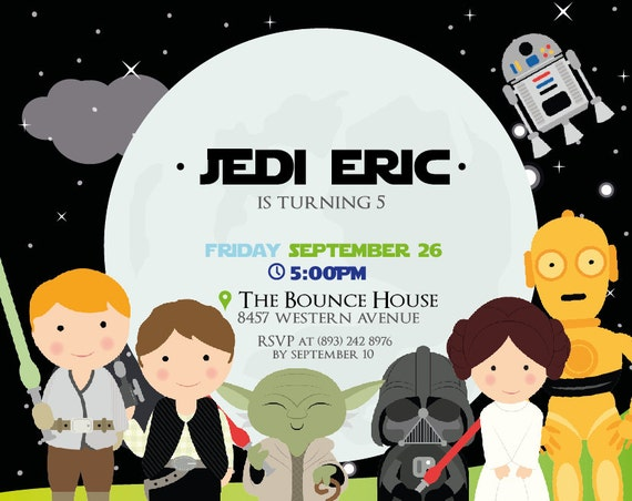 PRINTABLE Star Wars Birthday invitation (digital file)