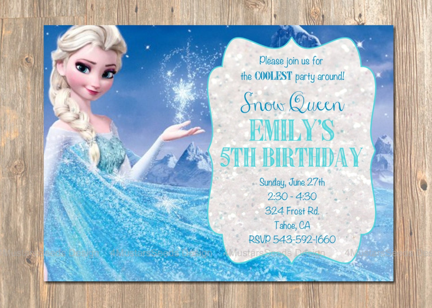 Elsa Birthday Invitations can inspire you to create best invitation template