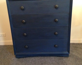 SOLD / BLUE /painted dresser / dark blue