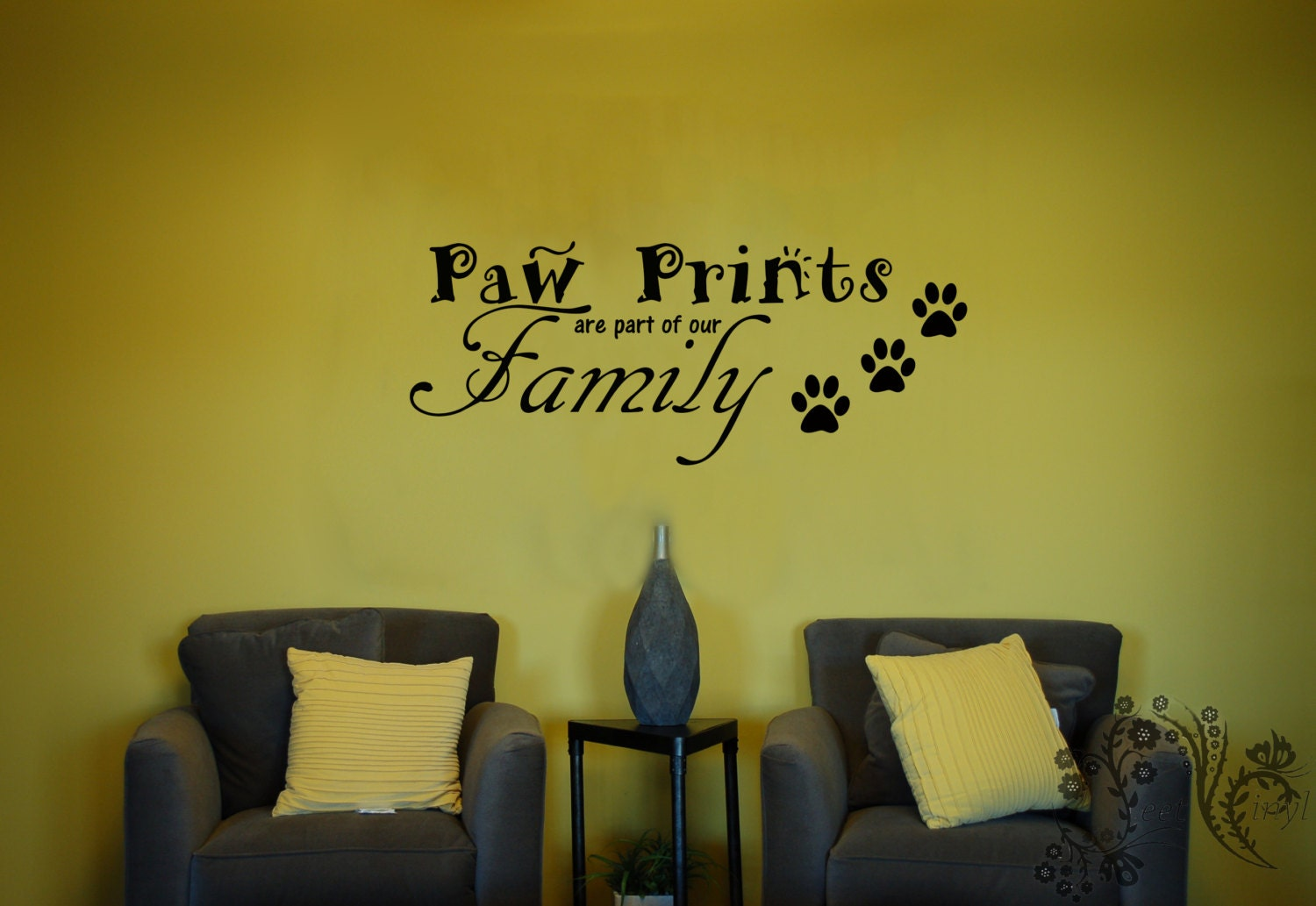 Paw Prints Are Part Of Our Family Wall Decals Wall Decal - Custom vinyl wall decals dogs