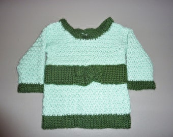 Light Green Sweater with Dark Green Belt size 2T