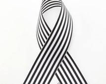 "1.5"" Candy Stripe Ribbon -Black & White -Ribbon by the yard -Great for Hair Bows, Craft Projects, and Packaging!"
